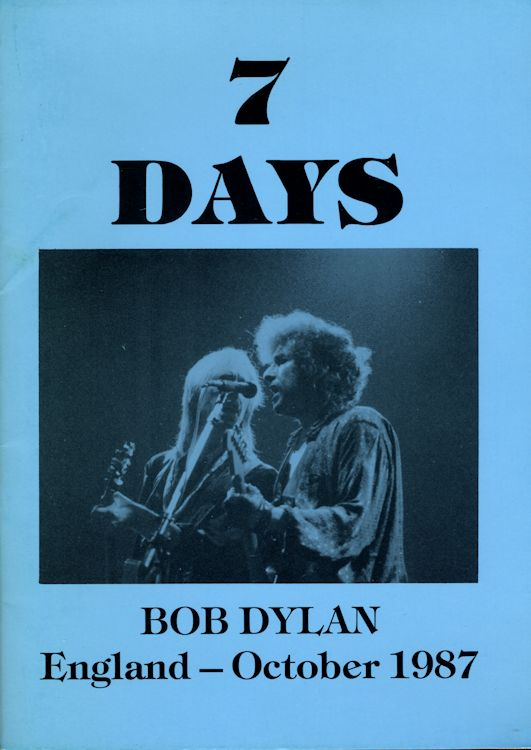 seven days england october 1987 Bob Dylan book