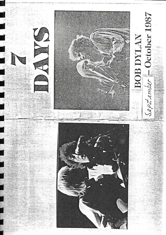 7 days september-october 1987 bob dylan book in German