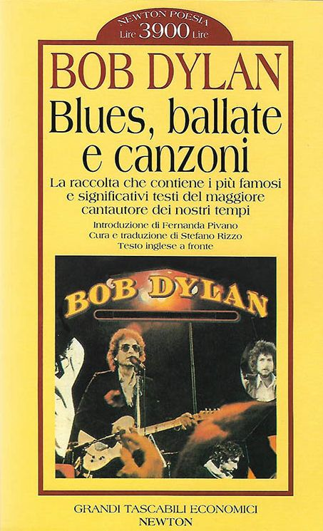 blues ballate e canzoni 1996 3rd edition bob dylan book in Italian