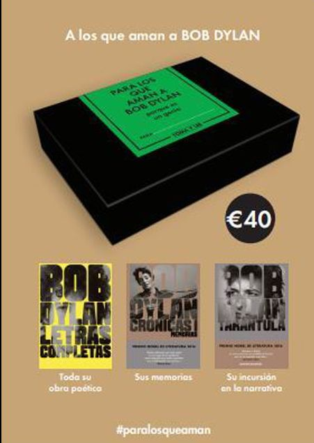 a los que aman a bob dylan box set book in Spanish 2017