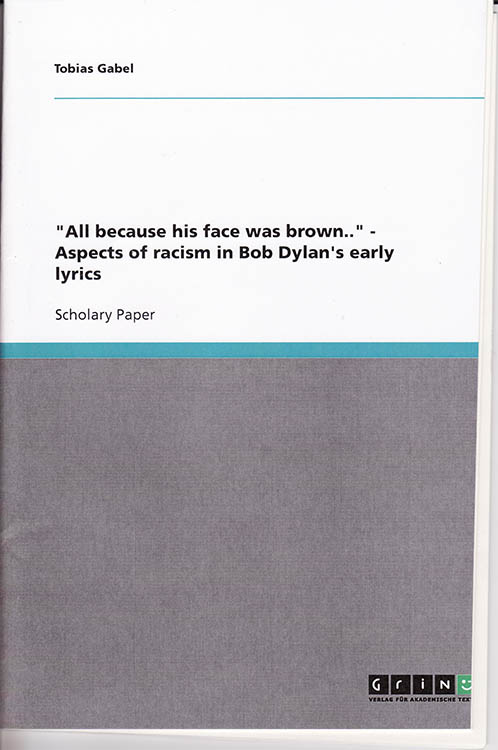 because his face was brown alternate cover Bob Dylan book