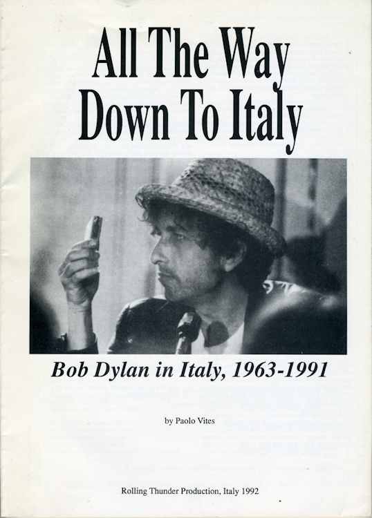 all the way down to italy Bob Dylan in italy 1963-1991 book
