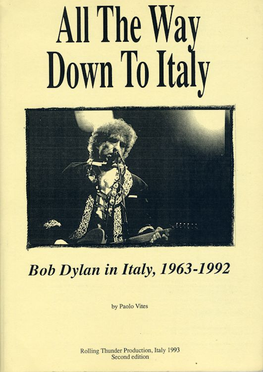 all the way down to italy Bob Dylan in italy 1963-1991 2nd edition book