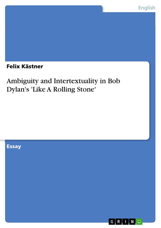 ambiguity and intertextuality Bob Dylan book