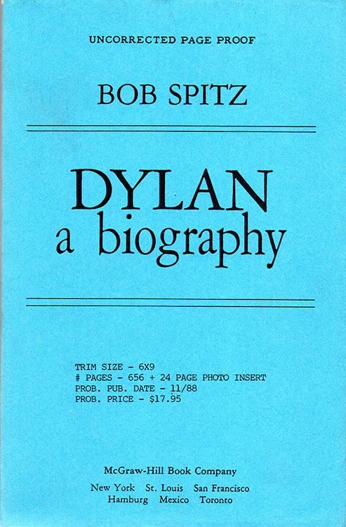Dylan spitz uncorrected book