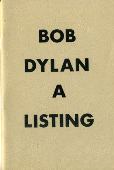 Bob Dylan a listing keith wilson book