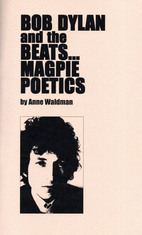 Bob Dylan and the beats book