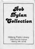 Bob Dylan collection hibbing library book
