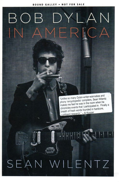 Bob Dylan in america bound galley book