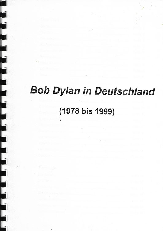 bob dylan in deutschland 1978 bis 1999 book in German