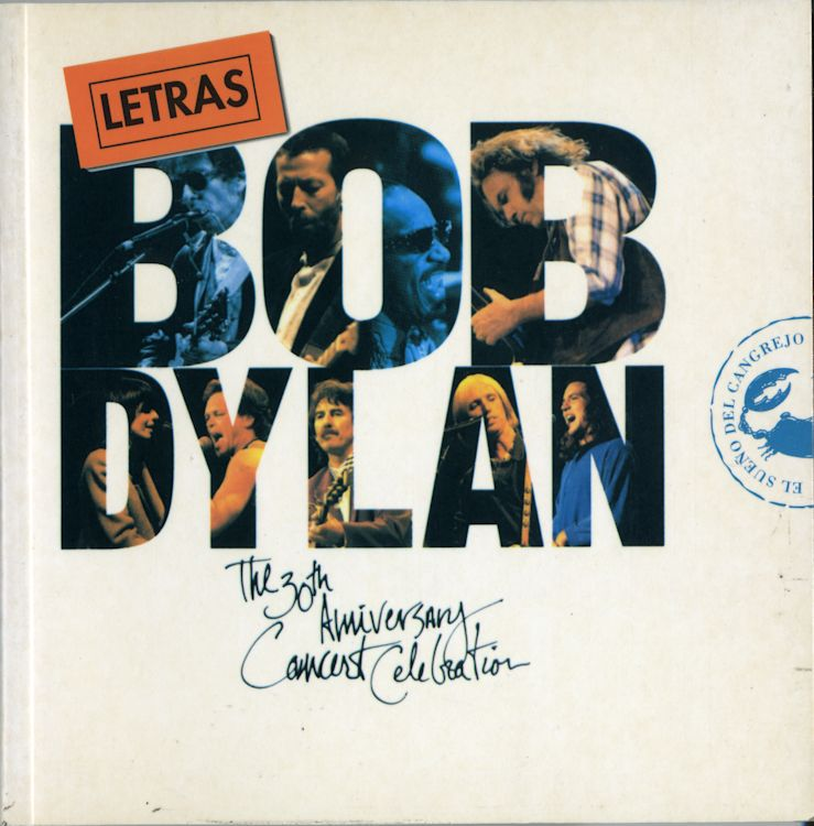 bob dylan letras 30th anniversary concert celebration book in Spanish