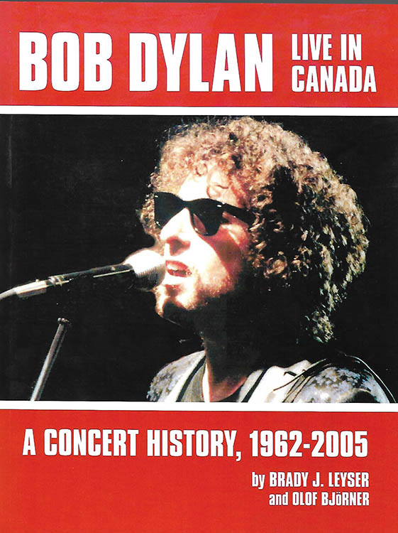 Bob Dylan live in canada book
