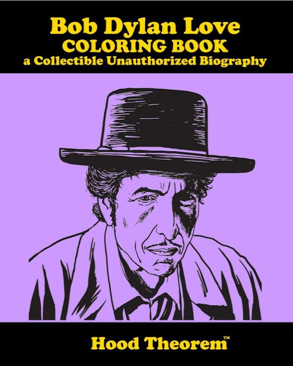 Bob Dylan love coloring book