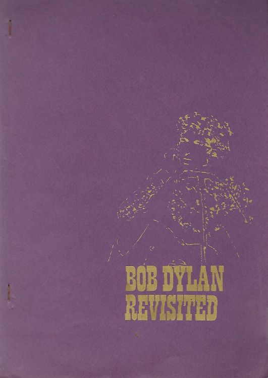 bob dylan revisited book in Dutch purple cover