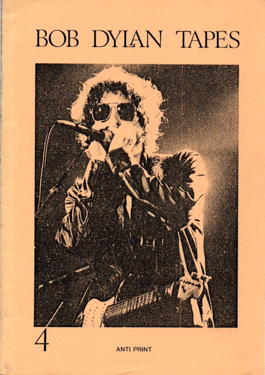 Bob Dylan tapes booklet