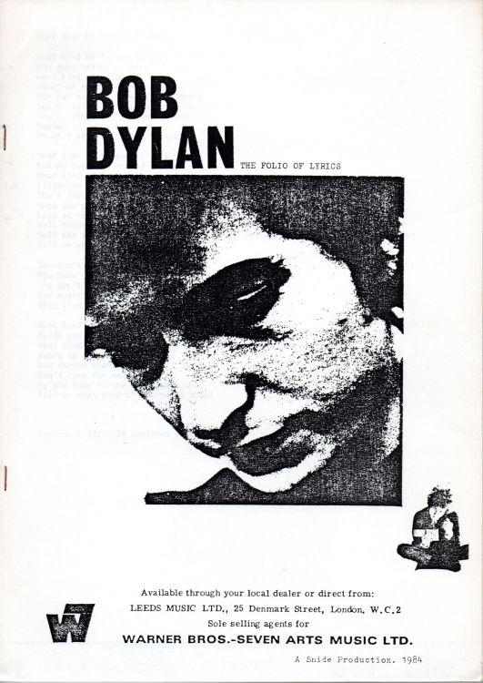 Bob Dylan the folio of lyrics book