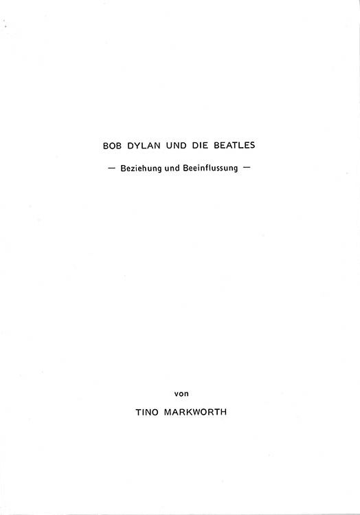 bob dylan und die beatles book in German