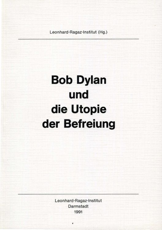 bob dylan und die utopie book in German