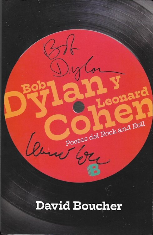bob dylan y leonard cohen poetas delrock and roll book in Spanish