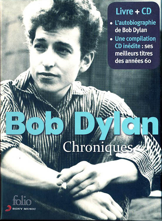 bob dylan chronicles gallimard book in French with cd