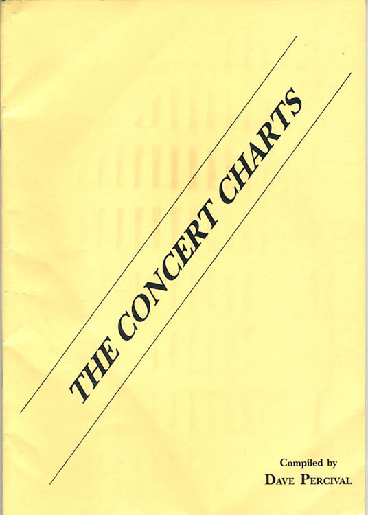 the concert charts Bob Dylan book