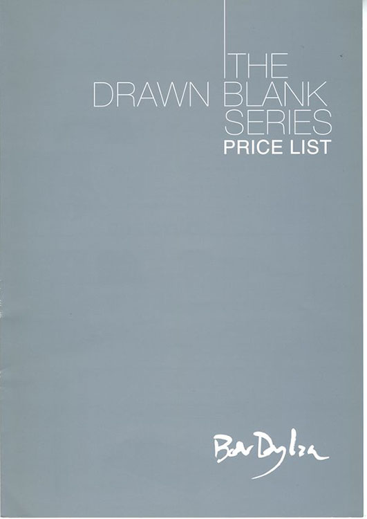 bob dylan the drawn blank series 2008 price list