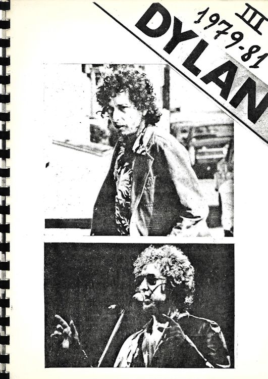 Dylan III 1979 1981 clippings book