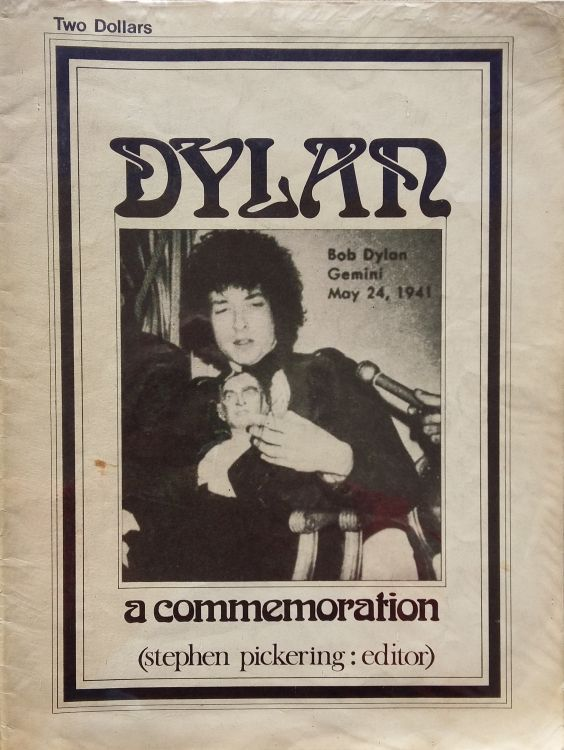 a commemoration pickering Bob Dylan book