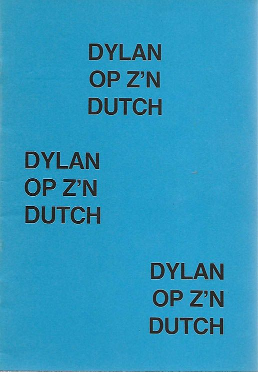 dylan op z n dutch dylan book in Dutch