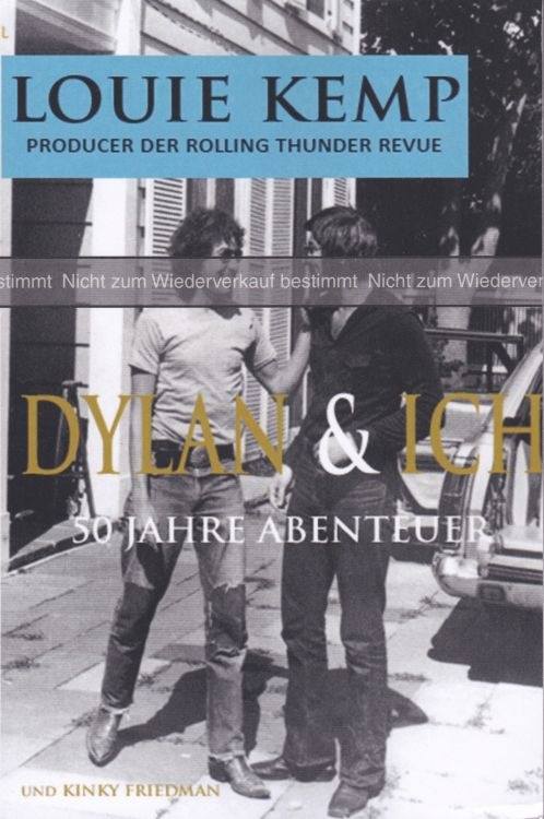 Dylan & Ich by Louie Kemp in German uncorrected proof