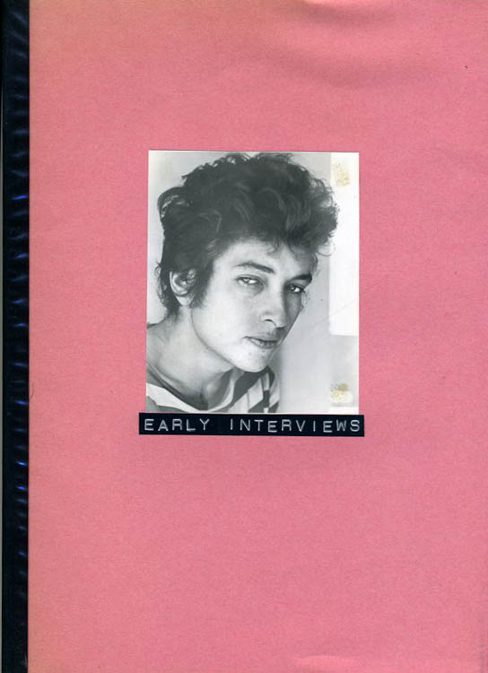 Bob Dylan early interviews michel pomarede book