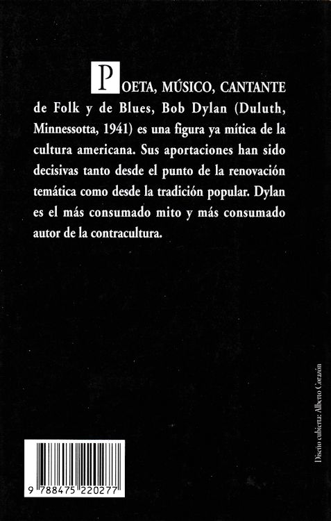 bob dylan george jackson y  otras canciones book in Spanish 1996 back