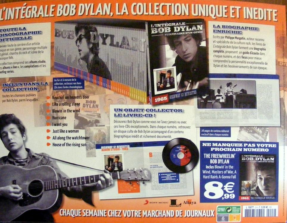 integrale de Bob dylan CD book second back