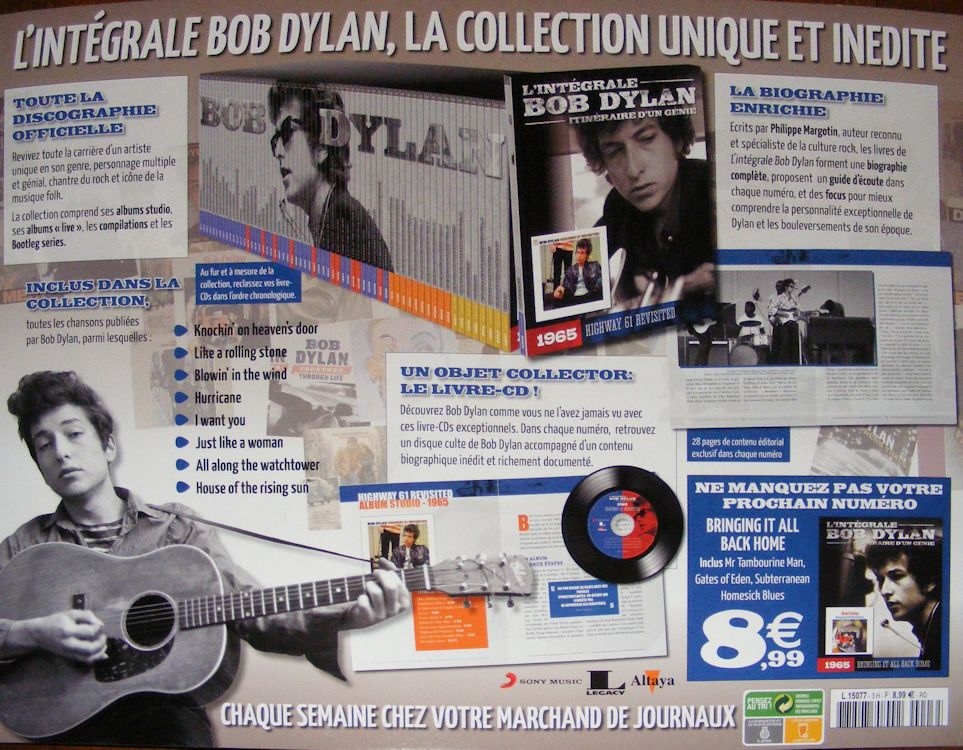 integrale de Bob dylan CD book third back