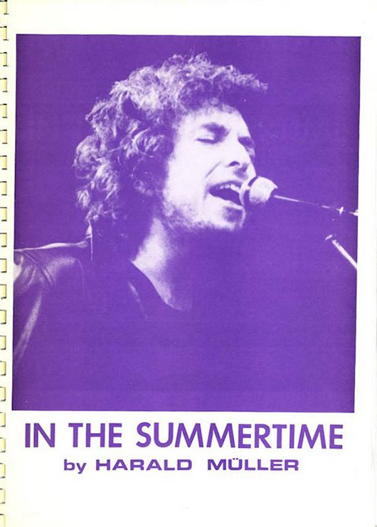 in the summertime harald müller bob dylan book in German