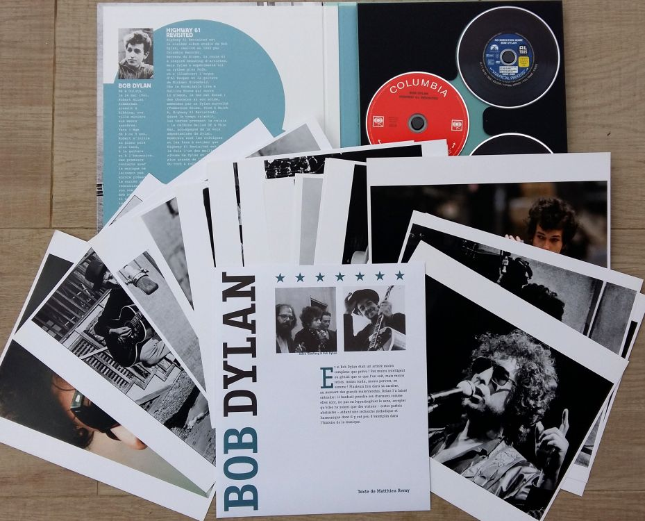 les coffrets cultes fnac bob dylan book in French open box