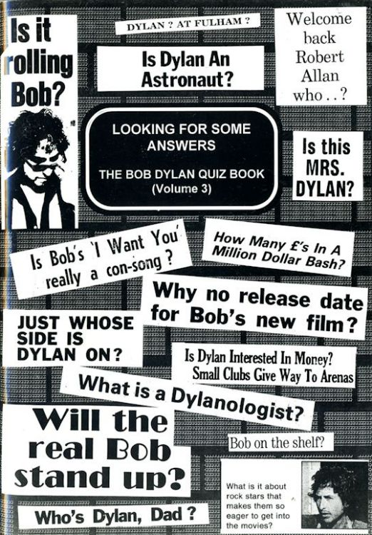 looking for some answers the Bob Dylan quiz book volume 3