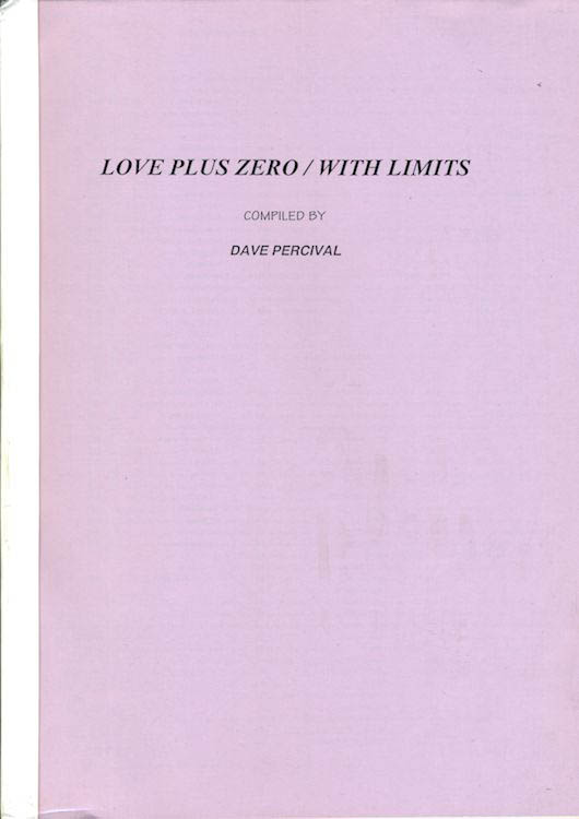 love plus zero with limits Bob Dylan book