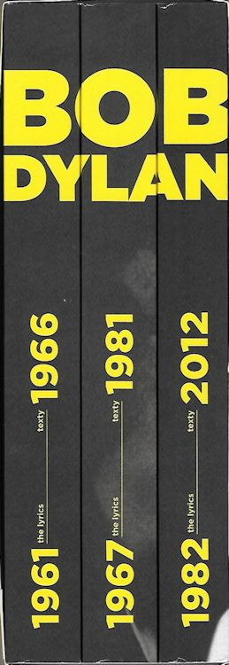 lyrics texty 1961-2012 3 volumes Dylan book in Czech spines
