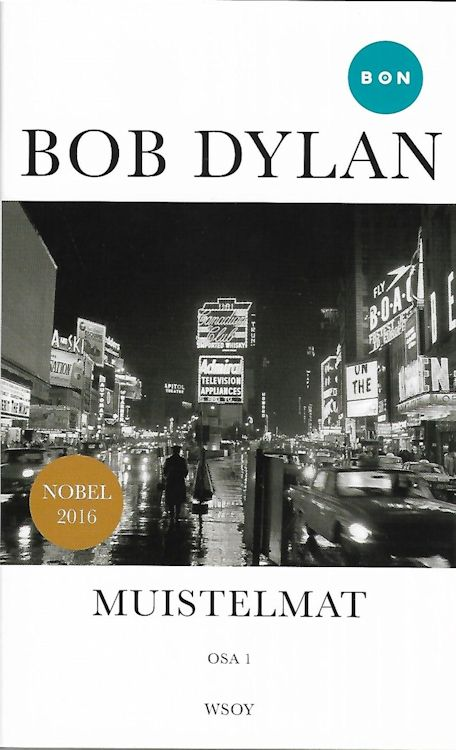 muistelmat osa 1 Dylan book in Finnish 2018 softcover