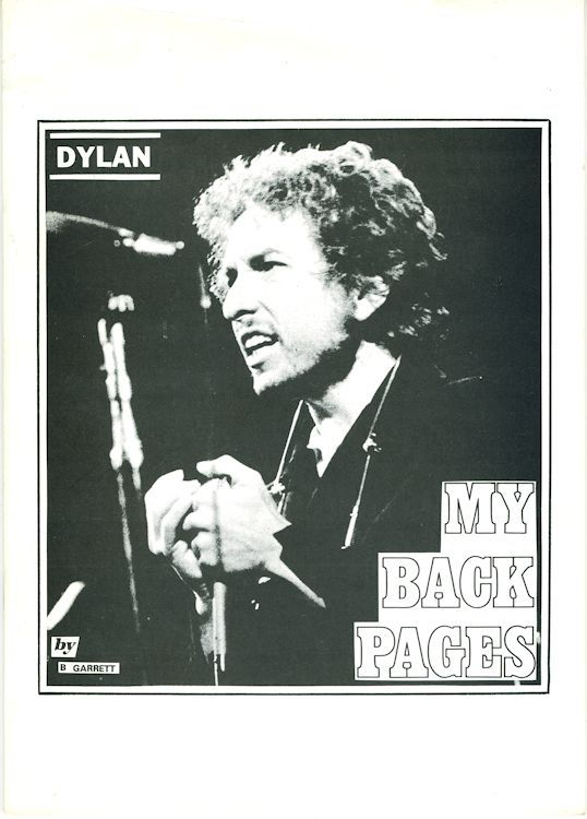 my back pages garrett Bob Dylan book