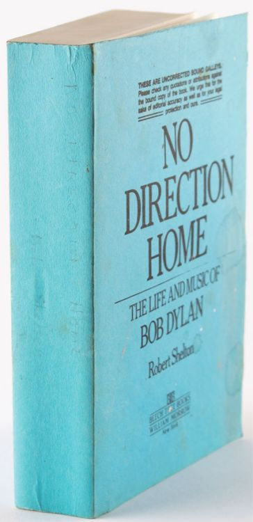 no direction home robert shelton Bob Dylan book galley proof