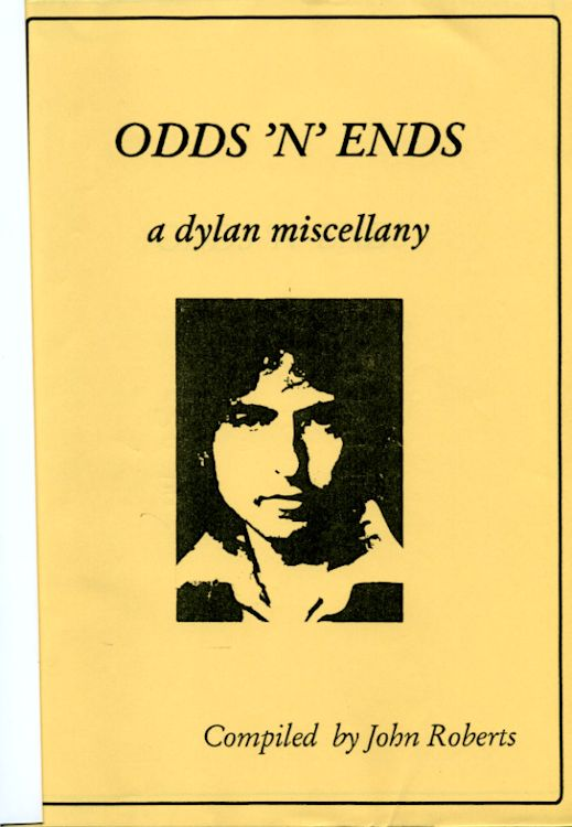 odds 'n' ends John Roberts alternate colour Bob Dylan book