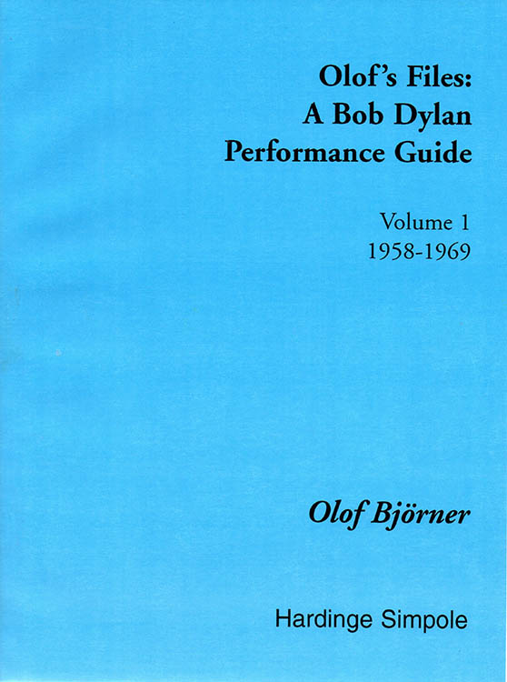olof's files 1958'1969 Bob Dylan book