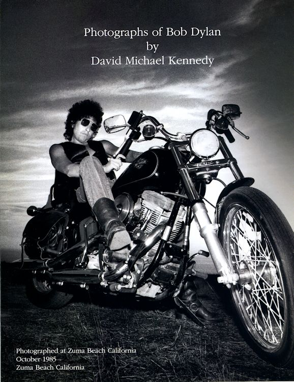 photograph of Bob Dylan kennedy book
