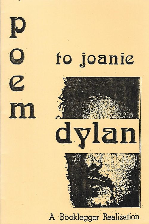 poem to joanie booklegger no price Bob Dylan book