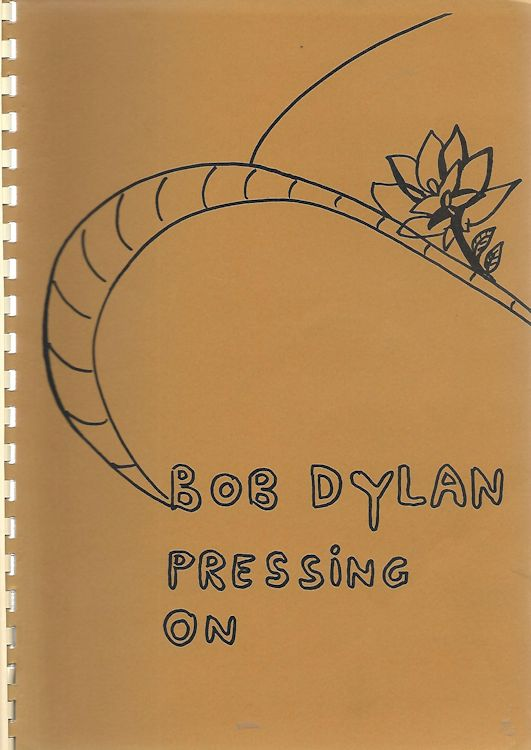pressing on Bob Dylan gerhard jansen book alternate colour #3
