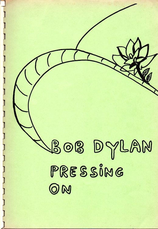 pressing on Bob Dylan gerhard jansen book alternate colour #2