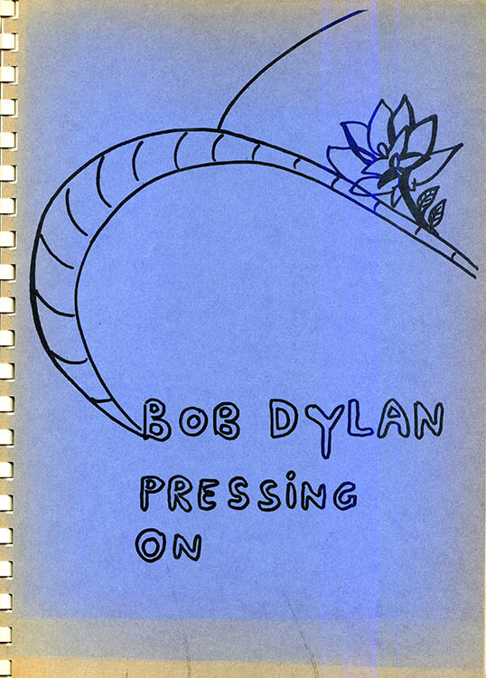 pressing on Bob Dylan gerhard jansen book alternate colour #1