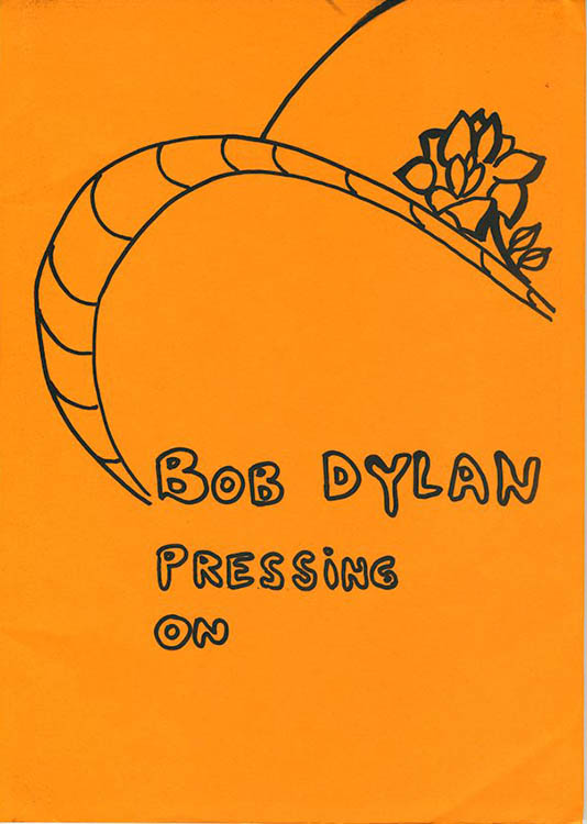 pressing on Bob Dylan gerhard jansen book